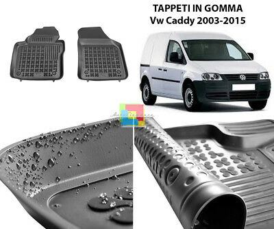 Tappetini Auto In Gomma - Vw Caddy 2003-2015 Tappeti Top Qualita