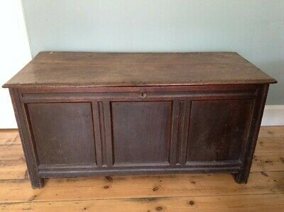 Antique Oak Chest / Coffer, Large, Late 17th Early 18th Century Original