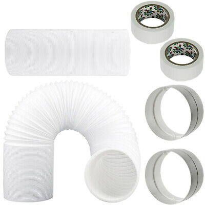 """UNIVERSAL Hose Pipe Vent PVC Extension Kit 12m 5"""" 125mm for Air Conditioner"""
