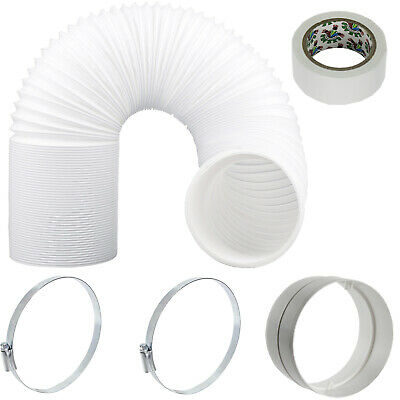 """UNIVERSAL Hose Pipe Vent PVC Extension Kit 3m 5"""" 125mm for Air Conditioner"""