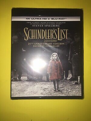 Schindlers List 4k Bluray NO Slipcover 2 Disc Set