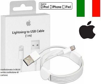 CAVO DATI USB ORIGINALE Lightning per Apple IPHONE 8 5 5S 6S 6 Plus 7, XR,XS,
