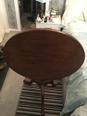 Victorian mahogany tilt top circular wine or occasional table