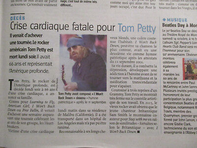 Journal Du Deces De : Tom Petty - 04/10/2017 -