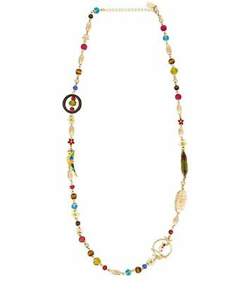 Disney Parks The Enchanted Tiki Room Bird Bamboo Charm Necklace New With Tags