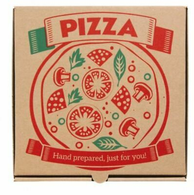 Premium Quality PIZZA BOX Take Away Fast Food Brown Printed Colour