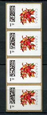 x106 - Canada #CP12i Kiosk Stamps 2nd Printing MNH COIL Strip of 4. SCARCE