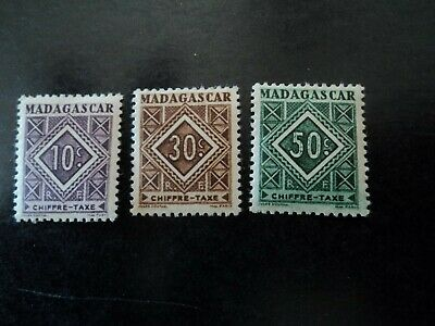 Timbres Poste Neufs:Chiffre Taxe: Madagascar