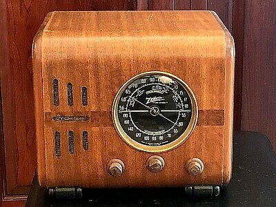 * Rare* 1937 Vintage Wood Zenith Tube Radio Model 5F233 Wired