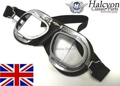 Hand Made Halcyon Mark 9 Superjet Driving, Riding, Flying Goggles Vintage Brown