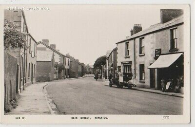 Early Postcard, Cumbria, Haverigg, Old Shops, Houses, Old Van Outside, RP
