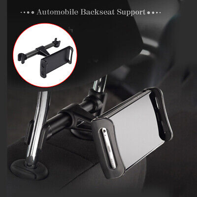 Car Auto Black Rear Back Seat Headrest Mount Mobile Phone Tablet Holder Stand