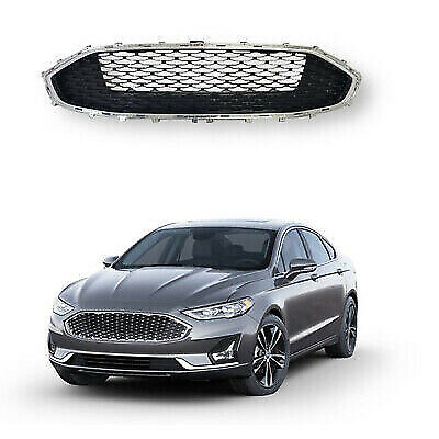 For 2019 2020 Ford Fusion Upper Grille Chrome Shell & Honeycomb Black Mesh