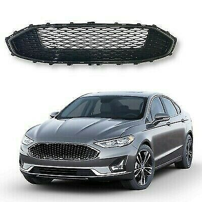 For 2019 2020 Ford Fusion Upper Grille Grill Glossy Black Mesh Honeycomb