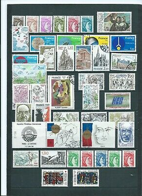 ANNEE 1981 COMPLETE soit 60 TP OBLITERES DIFFERENTS