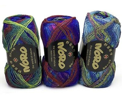 3 x 100g Multicoloured  Noro Kureyon Sock Wool - sh S253