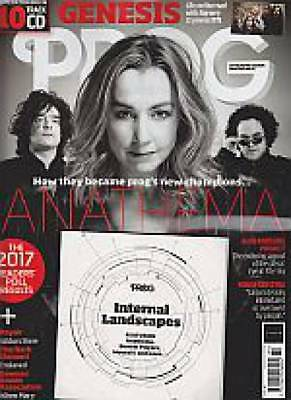 Prog Mag 84 Issue February 2018 New + 10 Track Cd Anathema Cover