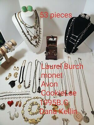 HUGE Mixed Lot Vintage to Modern jewelry. Junk drawer to signed Laural Burch..