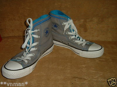 Converse all star mens/womens boys girls unisex multi tongue high top trainers 3