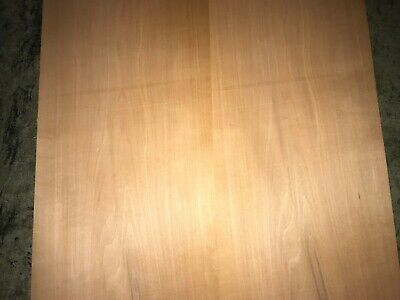 Swiss Pearwood Wood Veneer. 8 x 20, 2 Sheets.