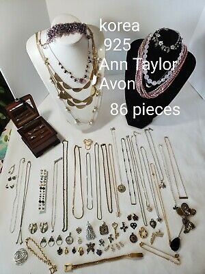 HUGE Mixed Lot Vintage to Modern jewelry. Junk drawer to signed .925