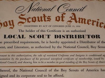 Boy Scout Local Scout Distributor Plaque R & G Outfiters Brooklyn Ny