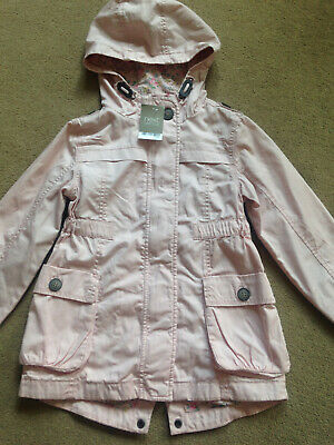 BNWT NEXT Girls Pink Hooded Cotton Lined Jacket Coat Age 6 Years RRP £32