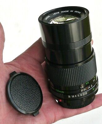 CANON FD Mount 135mm f3.5 Prime Telephoto Lens Near Mint Cond