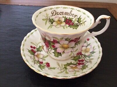 Royal Albert Flower Of The Month Christmas Rose Bone China Cup And Saucer