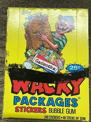 Vintage Unopened Wacky Packages Topps 1985  Stickers 48 Pack Box