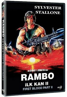 Sylvester Stallone Rambo Ii 2 Movie Brand New Turkish Rare Hard To Find Dvd