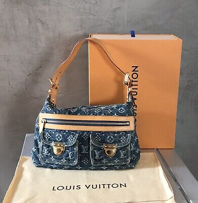 Authentic Louis Vuitton Denim Monogram Bag M95049LV79879