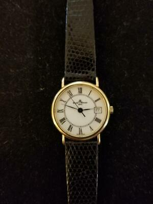 Lady Baume & Mercier  Watch 18K Yellow Gold With Genuine Lizard Band