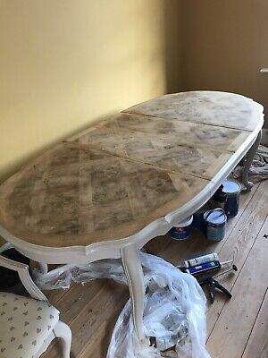 Shabby Chic Extending Dining Table With Six Chairs
