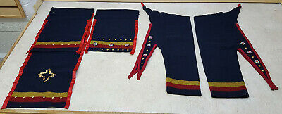 Boys 3 Band Wool Broadcloth Native American Indian Leggings&Apron Set W/Trailer