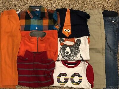 Gymboree Crazy 8 Faded Glory & Gap Boys Size 5 / 5T Fall Clothes Lot 9 Items