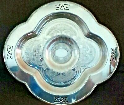 "Viking Plate Canada Silverplated Pedestal Serving Dish 10-1/2"" x 9-1/2"""