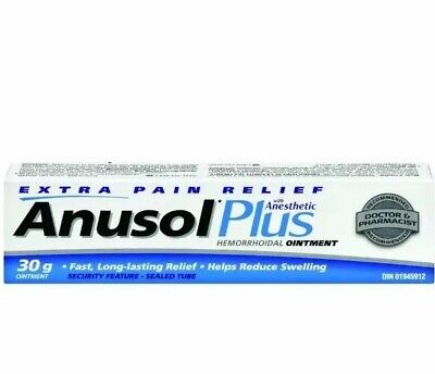 Anusol Plus Hermorrhoidal Ointment With Anesthetic Extra Pain Relief 30g Exp2022