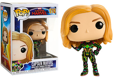 Funko Pop! Marvel: Captain Marvel - Captain Marvel In Neon Suit 516 43964 Vinyl
