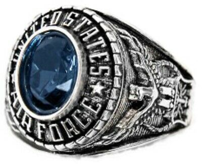 New Women's US Air Force Rhodium Plated Ring Sizes 5-10
