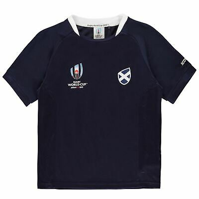 Scotland Rugby World Cup 2019 Team Poly T-Shirt Juniors Blue Fan Top Tee Shirt
