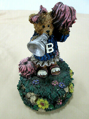 Resin Bear Cheer Leader Music Box - Let Me Be Your Teddy Bear