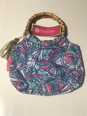 NEW Lilly Pulitzer for Target Girls Bamboo Handles Handbag Purse My Fans NWT