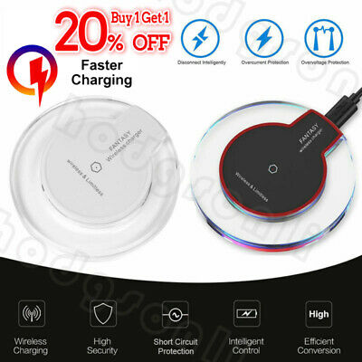 Qi Wireless Charger Slim Pad Ultrathin Fast Charging For iPhone XR X Android HOT