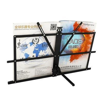 Adjustable Iron Sheet Music Stand Holder Folding Foldable Stand Easy Carry