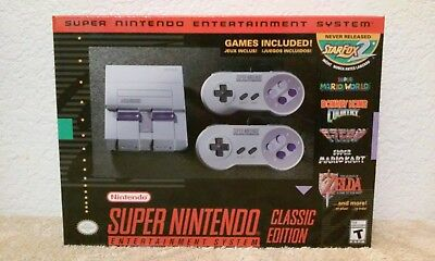 "Super NES Classic 2017 Limited Edition Mini ""FREE SHIPPING USA"""