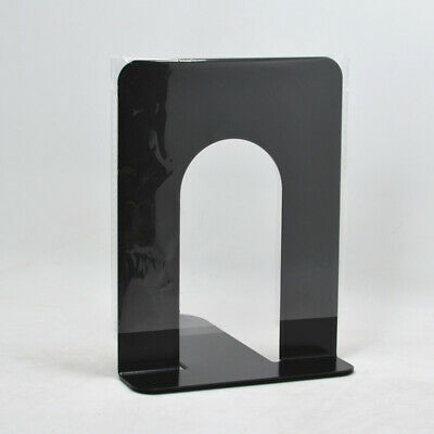 1 Pair Metal Bookends Nonskid Book Ends Folders Documents Magazines CDs Stoppers
