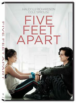 Five Feet Apart Cole Sprouse teenagers with cystic fibrosis discs 1PG-13 DVD NEW