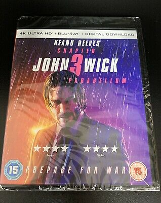John Wick: Chapter 3 Parabellum - 4K UHD Ultra HD & Blu-ray - Brand New & Sealed