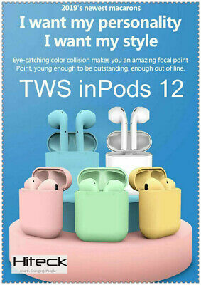 I12 TWS Bluetooth Version 5.0 Touch Control Earbuds Headphones inPods i12 update